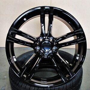 20 Gloss Black Wheels 437 Style Fits Bmw 3 4 5 And 6 Series