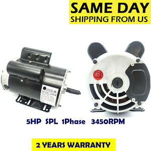 5hp Spl1phase 3450rpm Electric Air Compressor Duty Motor 56 Frame 5 8 shaft 60hz