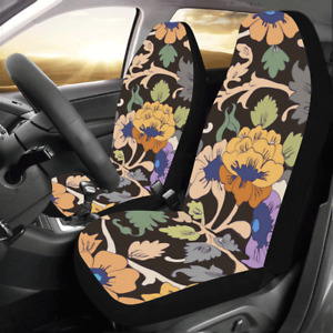 Front Car Seat Covers Persian Floral Protector Cushion Universal Fit Most Cars