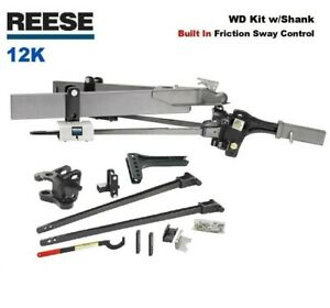 12k Reese Sc Trunnion Weight Distribution Hitch Built In Friction Sway 66155