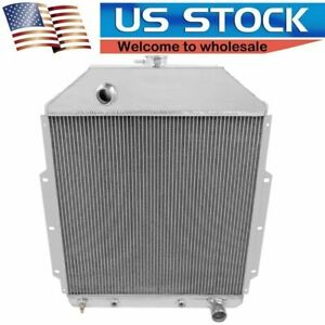 New Fit 1942 1952 Ford Truck Chevrolet Conversion 3 Row Sr Radiatorcc4252ch