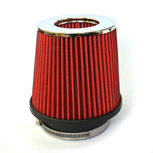 3 5 Inch Universal Race Performance Inlet Cone Air Filter Intake For Dodge Red