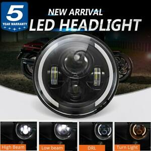 90w Dot 7 Inch Round Led Headlight Motorcycle For Harley Cafe Racer