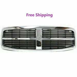 New Front Grille Chrome Frame Black Insert 2004 2006 Dodge Durango Ch1200274