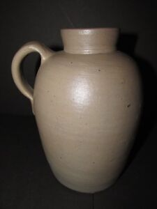 Vintage Stoneware Wide Mouth Jug Or Pitcher Small Size Ceramics