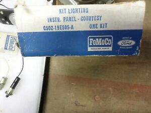 Nos 1964 65 66 Ford Mustang falcon comet fairlane Courtesy Lamp Kit Very Rare
