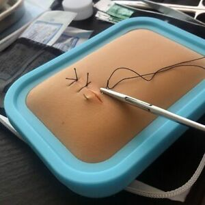 Surgical Suture Instrument Kit Medical Student Silicone Skin Practice Needle