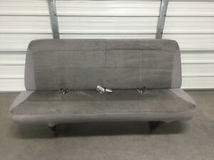 1999 2007 99 07 Ford Econoline Van Bench Seat 4 Person Gray Cloth