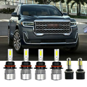 6x Headlight Led Fog Light Kit Combo 9007 899 Bulbs For Dodge Dakota 1998 2000