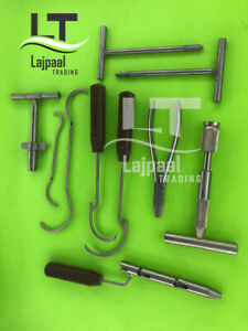 Wire Tightener Wire Passer K Wire Set 10 Pcs Orthopedic Instruments By Lajpaal