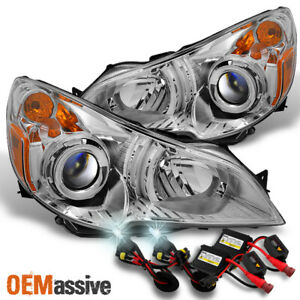 Fit 10 12 Subaru Legacy Outback Clear Headlights Replacement 6000k Hid