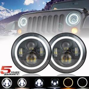 Dot 7 In Round Led Headlights For Land Rover Range Rover Classic 1970 1995