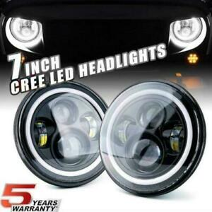 7 In Round Led Headlights Drl High Low For Porsche 911 912 914 924 928 944