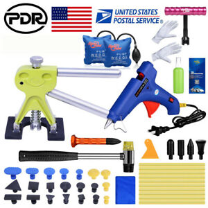 Paintless Car Dent Remover Repair Us Pdr Kit Dent Puller Tap Kit Diy Tools 43pcs