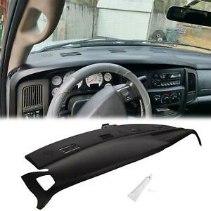 02 05 Dodge Ram Molded Dash Board Dashboard Cover Cap Overlay Black