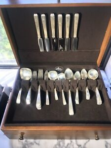 Craftsman Towle Sterling Silver Flatware Set Service For 6 Vintage 42 Pieces