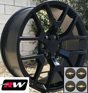 20 Inch Chevy Tahoe Replica Honeycomb Wheels Satin Black Rims 20x9 6x139 7 27