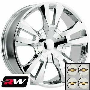 24 Inch Chevy Tahoe Replica Wheels Chrome Rst Edition Rims 24x10 6x139 7 31
