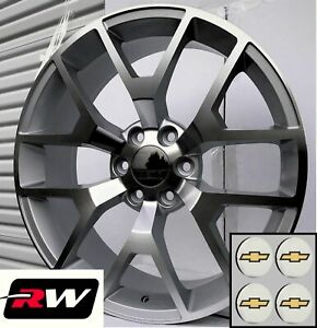 24 Inch Chevy Tahoe Replica Honeycomb Wheels Machined Silver Rims 24x10 6x139 7