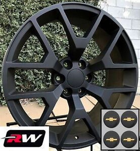 24 Inch Chevy Tahoe Replica Honeycomb Wheels Matte Black Rims 24x10 6x139 7 31