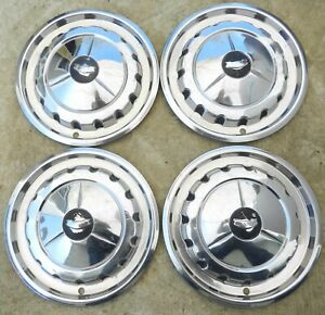 1980 S Mystery Used 14 Inch Hubcaps Set Of 4