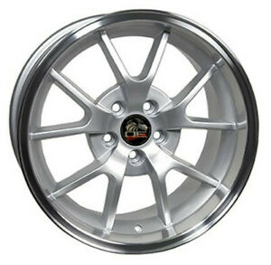 Wheel 1994 2004 Ford Mustang rear 18 Inch Alloy Rim 5 Lug Machined Silver