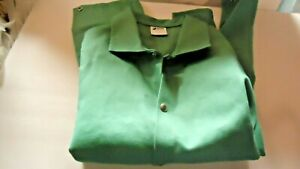 Singer Safety Green Welding Jacket Large 100 Cotton New Long Sleeve