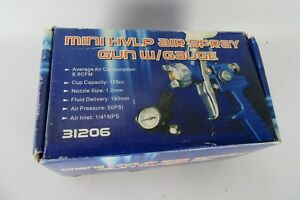 Mini Hvlp Air Spray Gun W Gauge In Box Unused