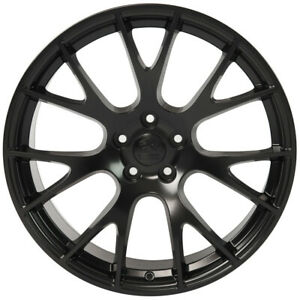 Wheel 2006 2018 Dodge Charger 22 Inch Aluminum Rim 5 Lug 115mm Satin Black