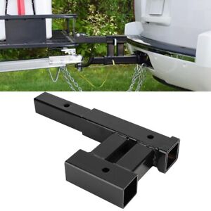 Dual Trailer Tow Hitch Mount Receiver Bar For Automotive Rack Accessories