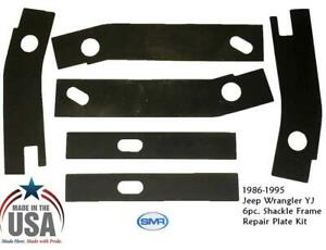 Rear Frame Repair Rusted Shackle Weld Plates Patch 1986 1995 Jeep Wrangler Yj