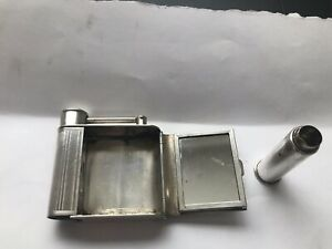 Vintage Sterling Silver Dunhill Vanity Mirror Lipstick Compact Combo Nice
