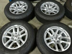 18 2019 Chevy Silverado 1500 Silver Factory Oem Wheels Rims Tires Tahoe 591