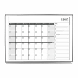 Luxor Wb4836cal 48 Inch X 36 Inch Magnetic Dry erase Monthly Calendar