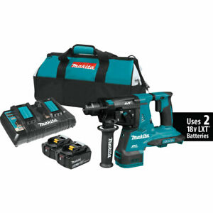 Makita Xrh08pt 36 Volt 1 1 8 Inch Sds plus X2 Lxt Brushless Rotary Hammer Kit