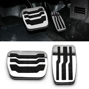 Drill Free Aluminum Accelerator Cover Gas Pedal For Ford F 150 2009 2015