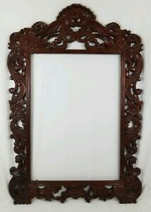 Huge Ornate Carved Wood Frame French Italian Florentine Art Nouveau 35 X 52