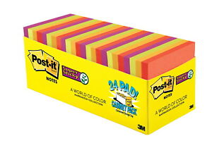 Post it Super Sticky Notes Cabinet Pack 3 X 3 Inches Marrakesh Colors Pad Of