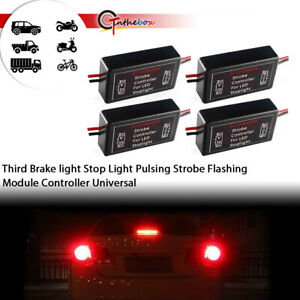 4x Universal Flash Strobe Controller Box Flasher Module For Led Brake Tail Light