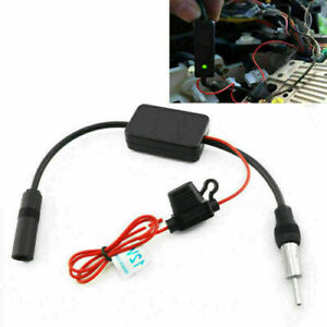 Car Truck Stereo Antenna Fm Am Radio Inline Signal Amp Amplifier Booster 12v