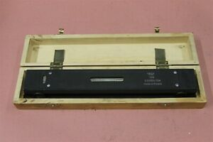 Vis Master Precision Machinist Level 12 L 0 0005 10in With Wood Case