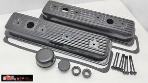 Small Block Chevy Black Center Bolt Valve Cover Kit 87 00 Vortec 305 350 Sbc 5 7