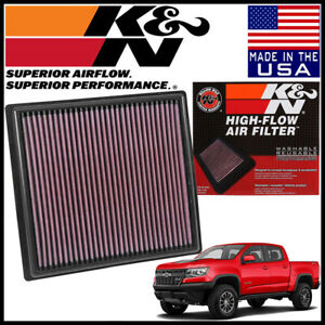 K n Replacement Air Filter Fits 2015 2019 Chevy Colorado 2 5l 2 8l 3 6l
