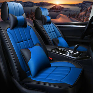 Deluxe Car Seat Cover Full Set Cushion Protector Premium Leatherette Royal Tone
