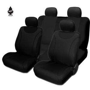 For Toyota New Soft Black Cloth Car Truck Seat Covers With Gift Full Set