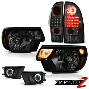 12 15 Toyota Tacoma X runner Fog Lamps Darkest Smoke Headlights Tail Replacement