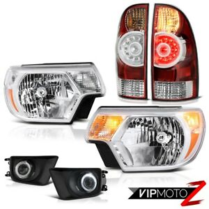 12 15 Toyota Tacoma Trd Pro Euro Chrome Fog Lamps Headlights Rosso Red Taillamps