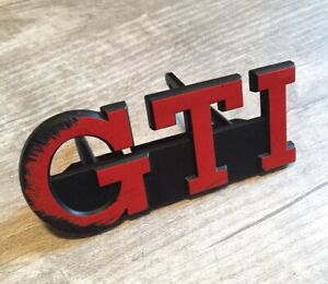 Vw Mk1 Rabbit Gti Front Oem Red Grill Badge late Westy Westmoreland Pa