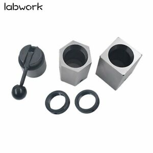 New 5c Collet Block Set Square Hex Rings Collet Closer Holder Fast Shipping