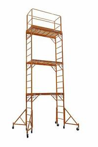 18ft Baker Perry Style Scaffold W guard Rail Outriggers